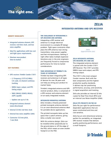 zelia integrated antenna and gPS receiver