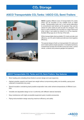 Transportable CO2 Tank