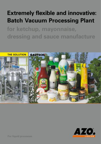 Extremely flexible and innovative: Batch Vaccum Processing plant