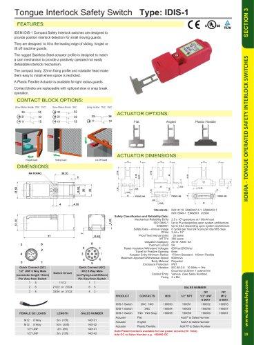 IDIS-1: Tongue Interlock Safety Switch