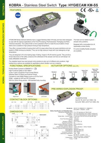 KM-SS: Stainless Steel Interlock HYGIECAM