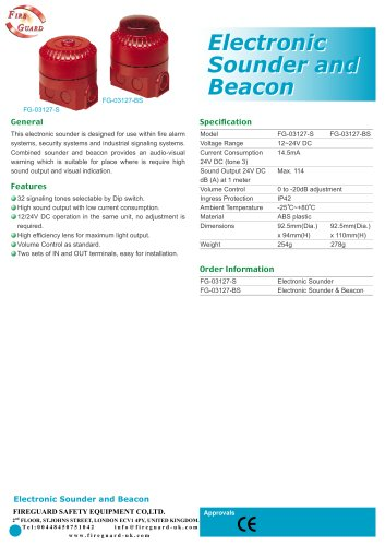 Electronic Sounder and Beacon