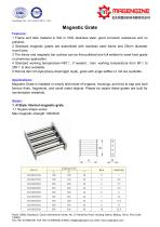 Magengine's catalogue for Magnetic grate