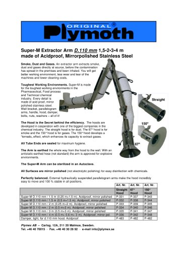 Super-M Extractor Arm D.110 mm 1,5 - 4 m
