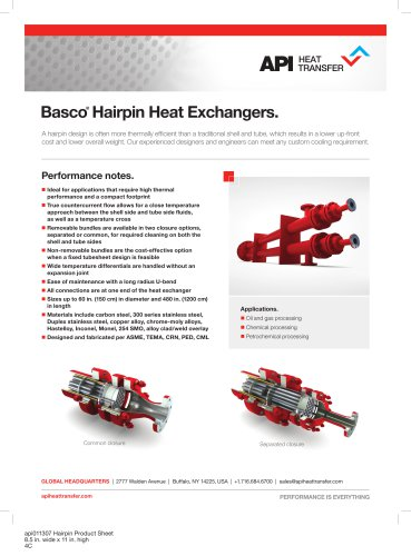 Hairpin heat exchangers