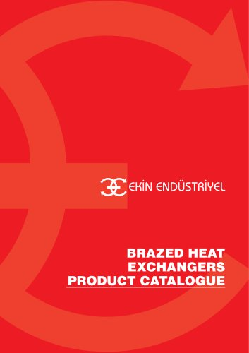 BRAZED HEAT EXCHANGER PRODUCT CATALOGUE