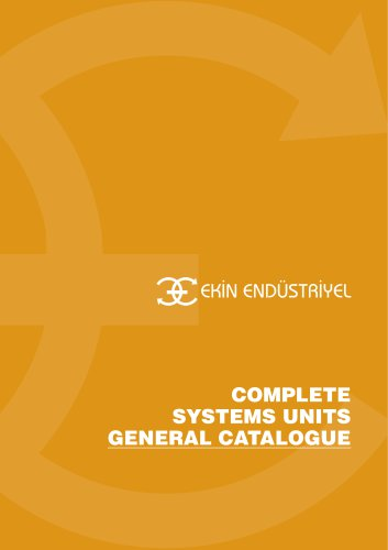 COMPLETE SYSTEM UNITS GENERAL CATALOGUE