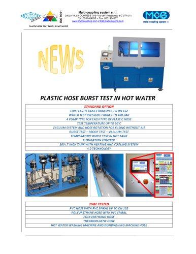 PLASTIC HOSE BURST TEST IN HOT WATER