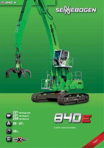Material Handling Machine 840 Crawler E-Series - Green Line