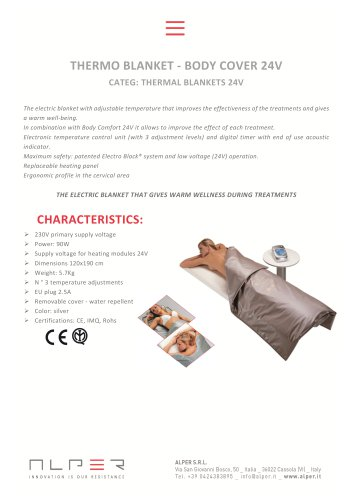 THERMO BLANKET - BODY COVER 24V - CATEG: THERMAL BLANKETS 24V