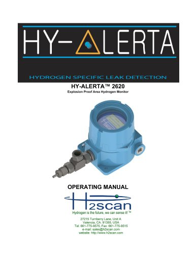 HY-ALERTA 2620 Explosion Proof Area Hydrogen Monitor