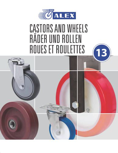 CATALOGUE ALEX CASTERS AND WHEELS 2014