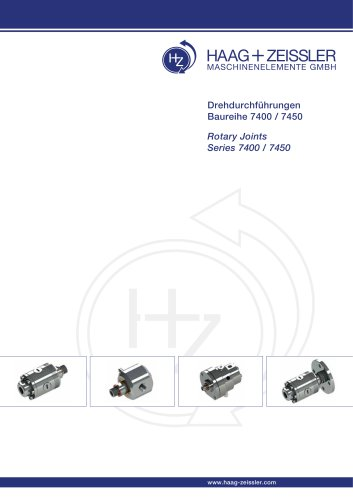 Rotary joints series 7400 / 7450