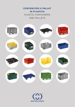Plastic containers and pallets