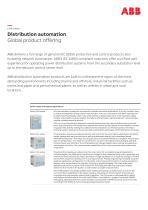 Distribution automation Global product offering