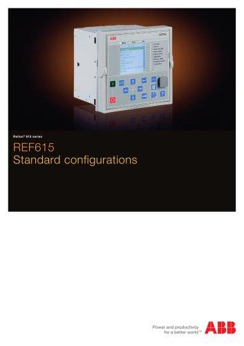 REF615 Standard configurations brochure