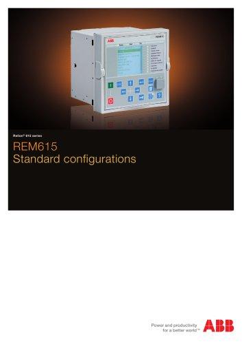 REM615 Standard configurations brochure