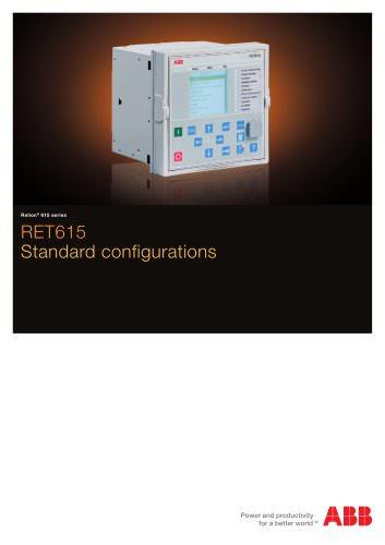 RET615 Standard configurations brochure