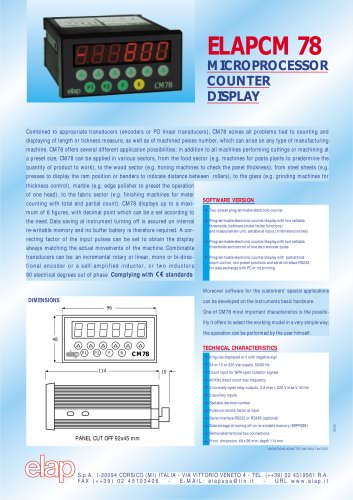 CM78 Programmable Counter