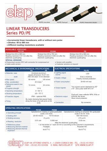 PD - PE - PS Linear transducers
