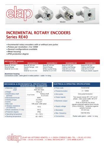 RE40 Incremental encoder