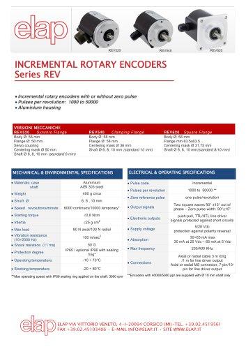 REV incremental encoders