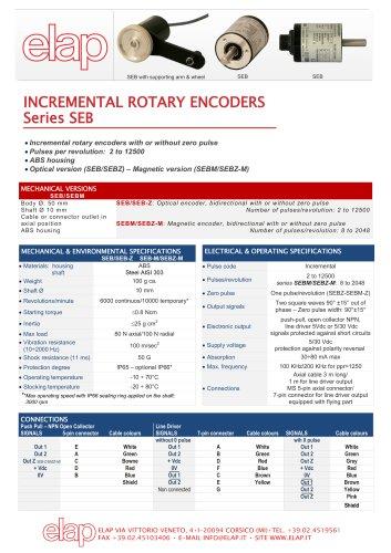 SEB Incremental rotary encoder