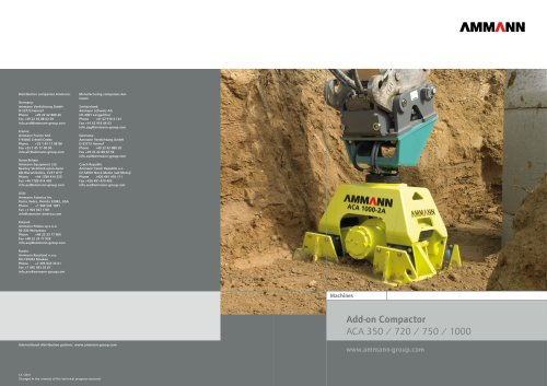 Add-on and vibratory plate compactor