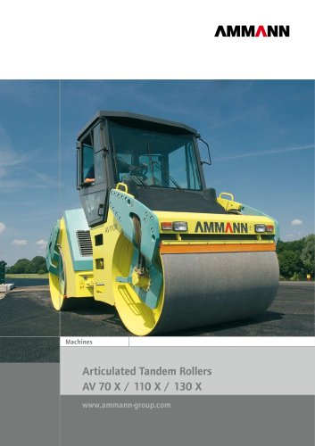 Articulated tandem rollers, 10.5 - 12.5 t