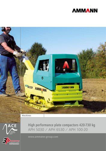 High performance plate compactors 420-730 kg APH 5030 / APH 6530 / APH 100-20
