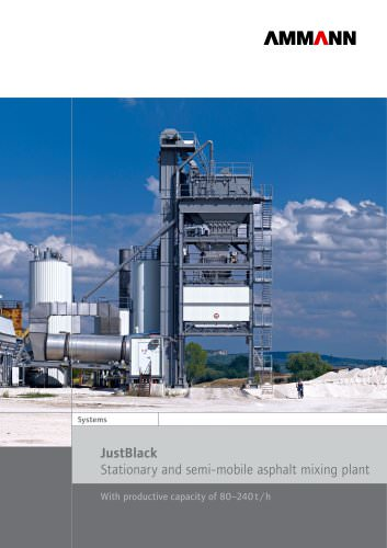 JustBlack Stationary and semi-mobile asphalt mixing plant