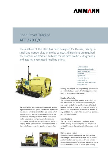 Road Paver AFT 270 E/G: Road Paver Tracked