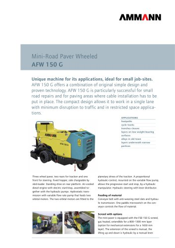 Road Paver AFW 150 G: Mini-Road Paver Wheeled