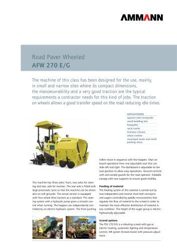 Road Paver AFW/AFT 270 E/G: Road Paver Wheeled