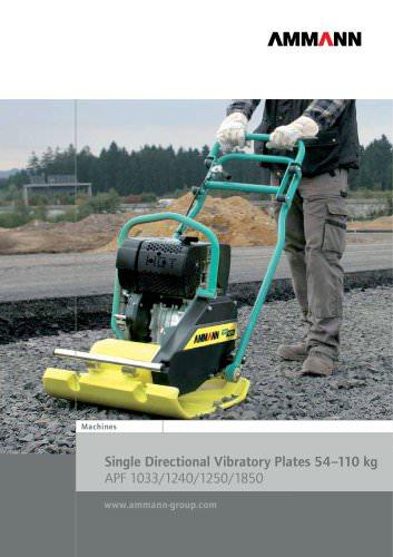 Single Directional Vibratory Plates 54-110 kg APF 1033/1240/1250/1850