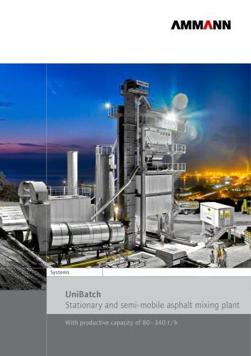 UniBatch Stationary and semi-mobile asphalt mixing plant