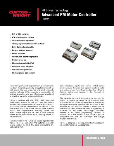 i-Drive - Advanced PM Motor Controller