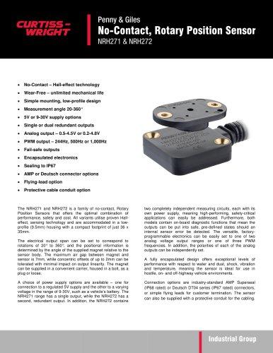 NRH271 & NRH271 - No-Contact, Rotary Position Sensor
