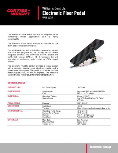WM526 Electronic floor pedal