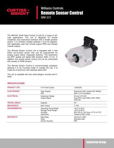 WM531 Remote sensor control