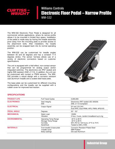 WM532 Narrow profile floor pedal