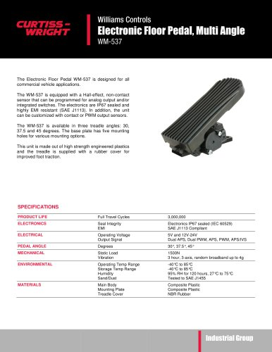 WM537 Electronic floor pedal