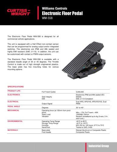 WM558 Electronic floor pedal