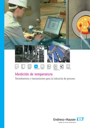 Medición de Temperatura, Termómetros y transmisores para la industria de proceso