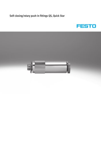 Self-closing/rotary push-in fittings QS, Quick Star