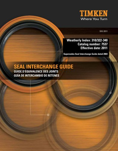 Automotive Aftermarket Seal Interchange Guide