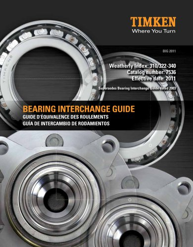 Bearing interchange guide