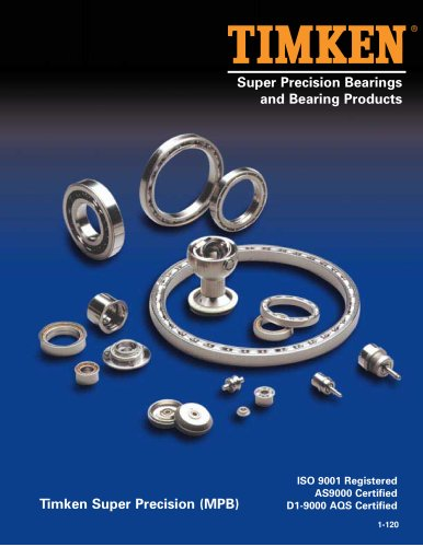 Super Precision Bearings and Bearing Products Catalog