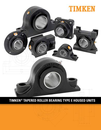 Timken Type E Housed Unit Catalog