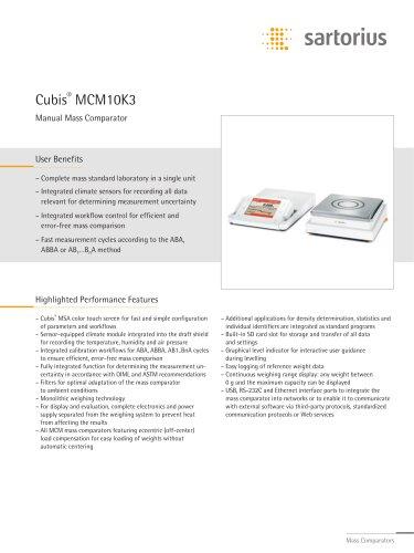 Cubis®  MCM10K3